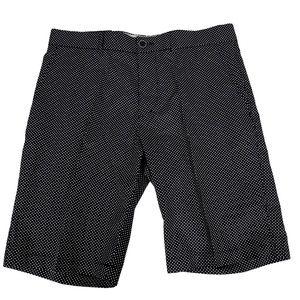 H&M BLACK/White Pokadot Cotton Shorts -Sz 34R